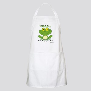 F.R.O.G. Fully, Relying,On,God Apron